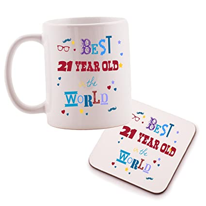 Keep Calm Youre Only 21 Mug And Coaster Set