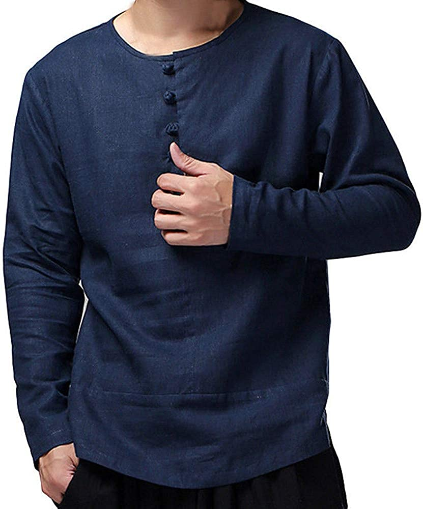 Fubotevic Men Button Down Business Long Sleeve Velvet Casual Shirts