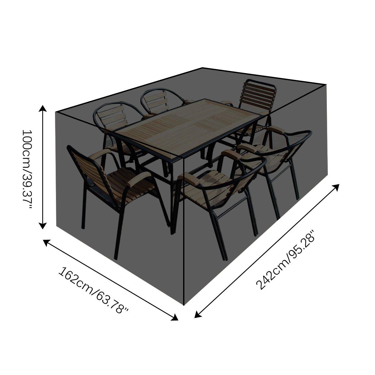 Schutzhülle Für Gartenmöbel, 242 X 162 X 100cm Gartenmöbel Abdeckung  Outdoor Möbel Für Garten Tisch Und ...
