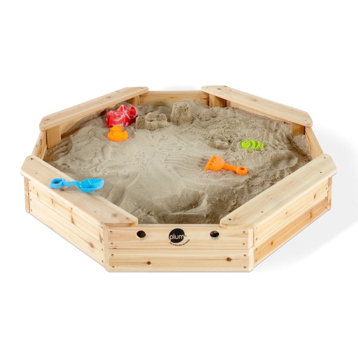 Plum Kinder Sandkasten Strandinsel Treasure Beach Wooden Sand Pit