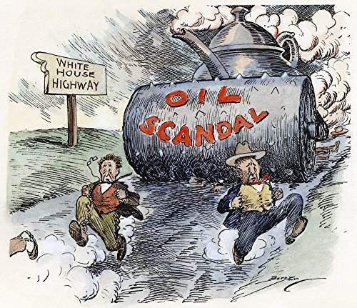 Cartoon Teapot Dome 1924 Namerican Cartoon Showing Washington Officials Racing Down An Oil Slicked Road To The White House Trying Desperately To Outpace The Teapot Dome Scandal Cartoon By Clifford K B