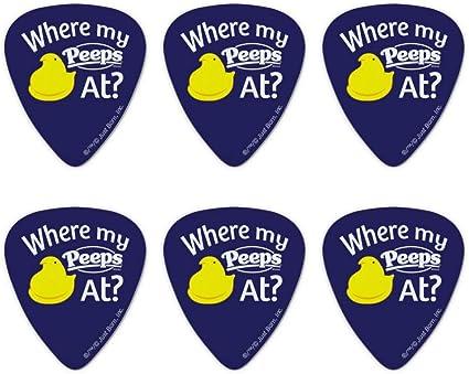 Juego de 6 púas para guitarra con texto en inglés «Where My Peeps ...