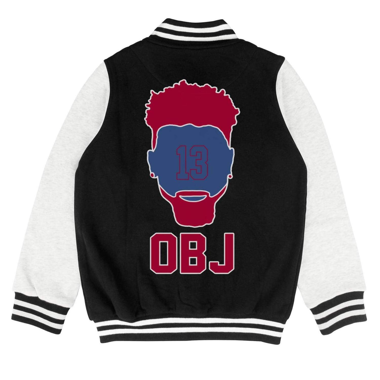 FPFLY Kids Girls Boys OBJ-Wide-Receiver- Fashion Cotton Hoodies Button Varsity Baseball Jacket 2-10 Years