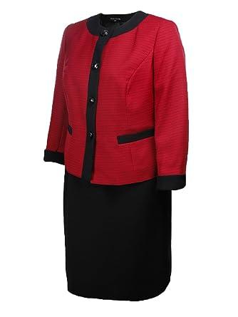 Amazon Com Evan Picone Women S Business Suit Skirt Jacket Set 6