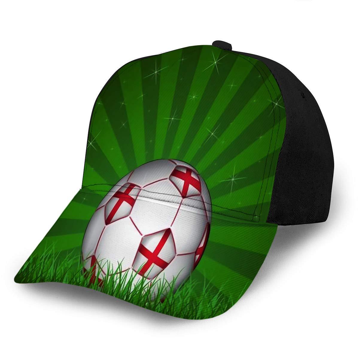 Baseball Cap Hats Adjustable England Soccer Ball for Men Women