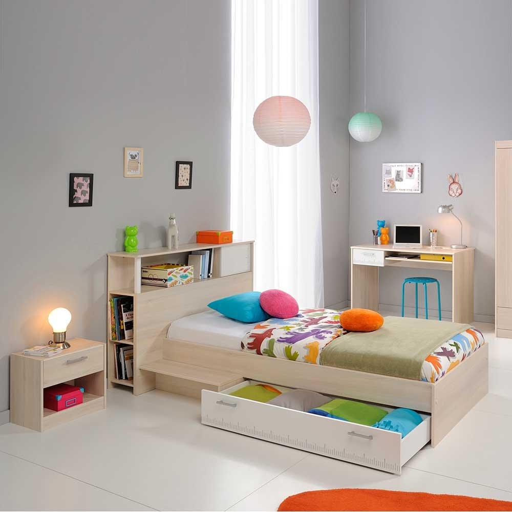 Pharao24 Jugendzimmermöbel Set in Akazie Weiß kaufen