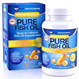 Omega 3 Fish Oil Supplement, Advanced EPA/DHA Triple Strength, 3000 mg, Burpless with Lemon, 60 Softgels, Pharmaceutical Grade – Pure Micronutrients (1 Bottle) For Sale