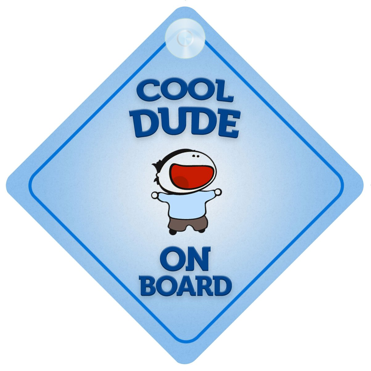 Cool Dude On Board Car Sign New Baby / Child Gift / Present / Baby Shower Surprise by mybabyonboard UK   B00IOS3PIO