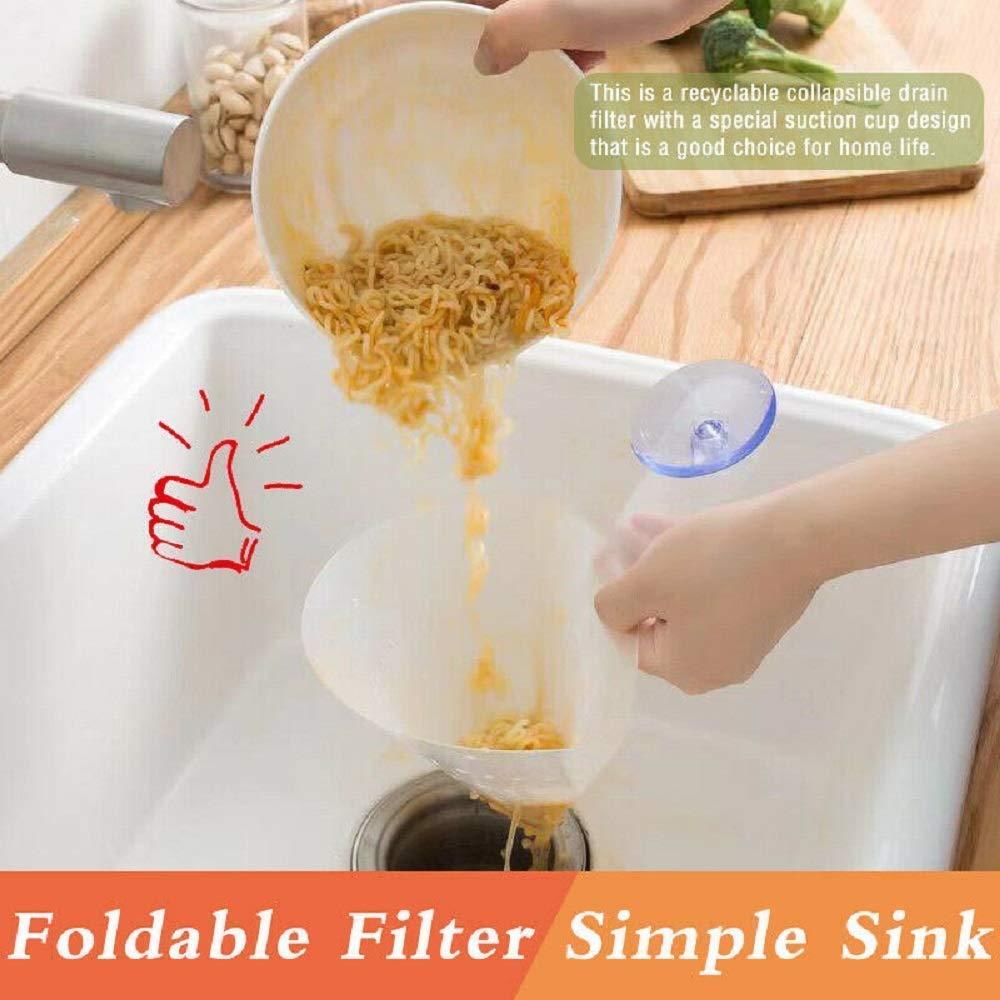 5x Filter selbst stehende faltbare Spüle Stopper Anti-Blockier Gerät für Küche