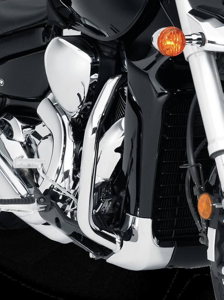 Black, B Engine Guards Highway Crash Bars Engine Protectors for SUZUKI BOULEVARD M109R VZR1800 06-14