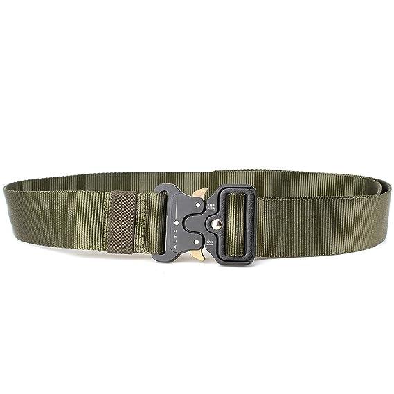 X negro Hawk cinturón táctico, Heavy Duty ajustable estilo militar ...