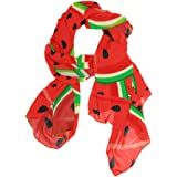 XMCL Watermelon Pattern Scarf Scarves Soft Lightweight Long Sheer Wrap Shawl for Women