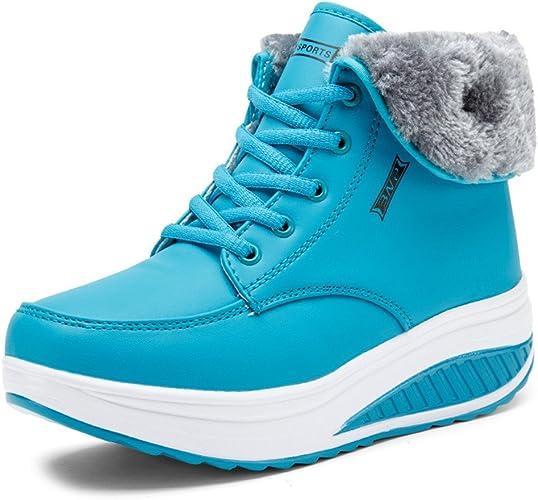 Hiver pour Chaud Bottes de Antidérapant Chaussures Boots Fourrées Bottines SAGUARO® Neige Cheville Femmes Impermeable Fourrure erdxoCWB