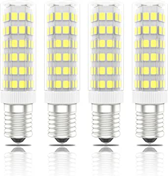 Phoenix-Bombillas LED E14 7W, 60W Halógena Equivalente, Blanco Frío 6000K, 560lm,Pack de 4 Unidades: Amazon.es: Iluminación