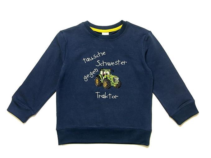 Zintgraf leichtes Sweatshirt mit Traktor Stickerei