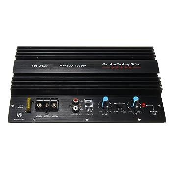 Amplificador de potencia de audio de la placa amplificadora 12V 1000W Subwoofers de graves potente PA