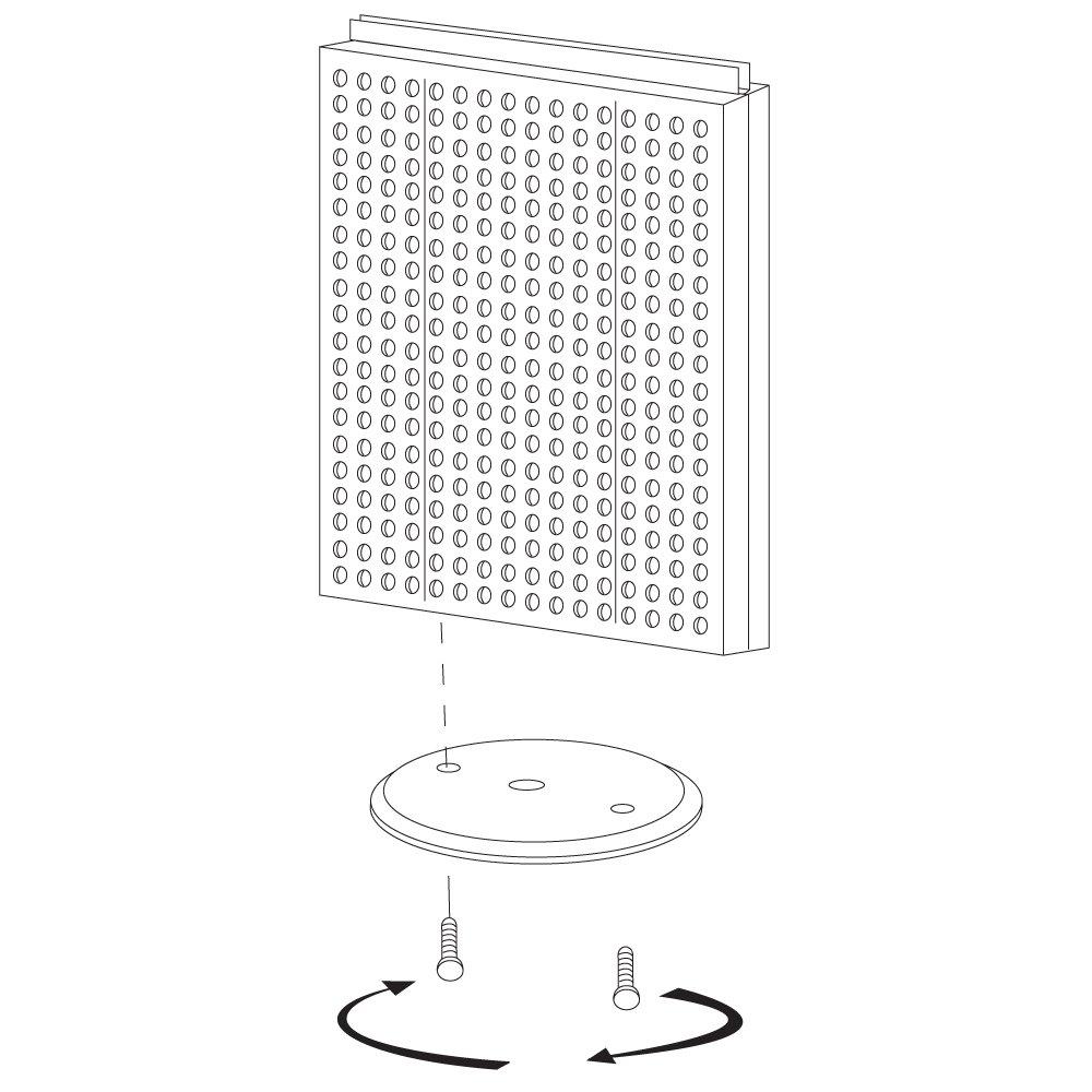 Black Solid Pegboard Azar 700500-BLK Pegboard Counter Display