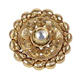 MUCH-MORE Fabulous Gold Plated Traditional Partywear Polki Ring Jewelry for Women (641)
