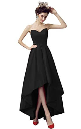 Amazon Vimans Sweetheart Satin Dresses High Low Prom Dress