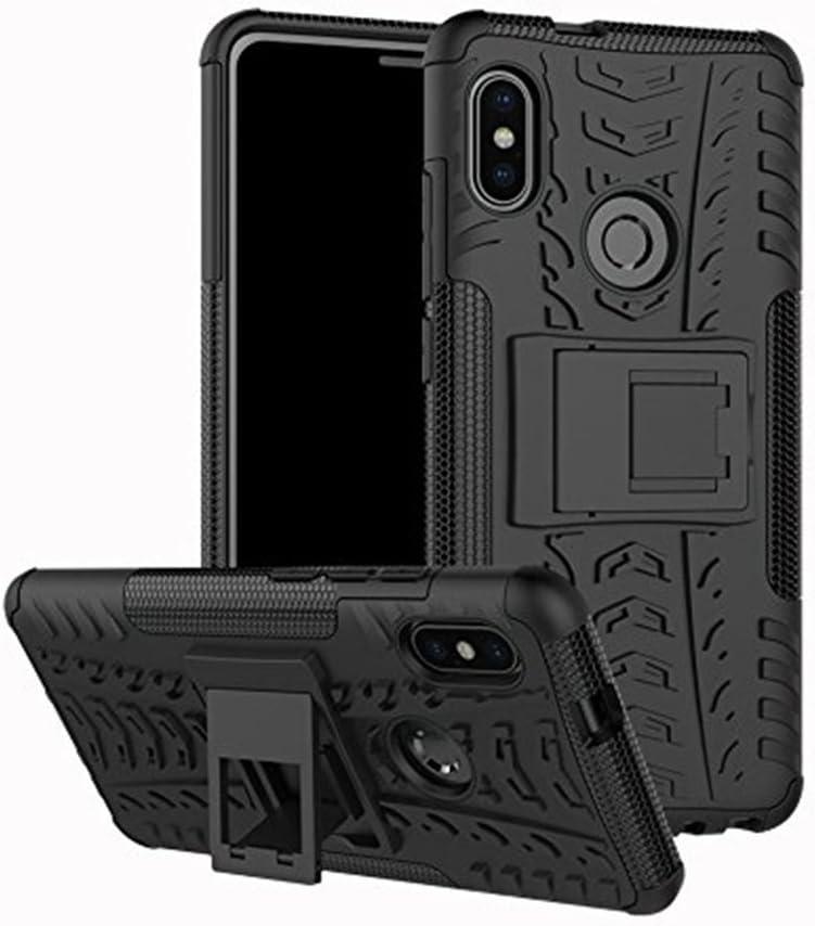SPAK Xiaomi Mi 6X,Xiaomi Redmi Note 5 Pro Custodia,PC + TPU Hybrid Armour Design Case Cover Caso Protettiva in Doppio Strato Copertina Rigida per Xiaomi Mi 6X,Xiaomi Redmi Note 5 Pro (Nero)