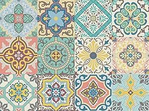 Vinilo decorativo autoadhesivo con dise o de azulejos for Papel autoadhesivo decorativo