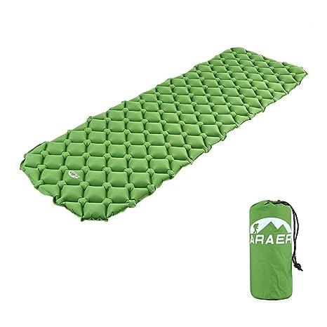 Alfombrillas de dormir Saco de dormir Ultralight hinchable camping Matte con Super Cómodo Air Support de