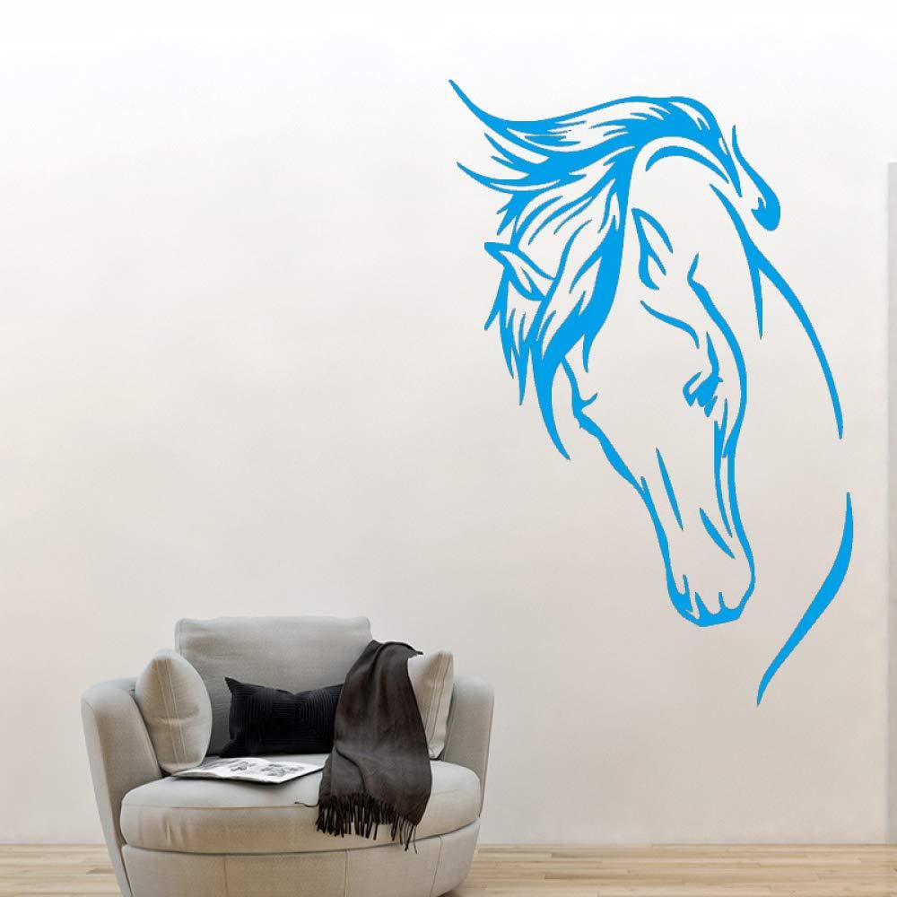 AiyoAiyo Creative Horses Head Etiqueta de la Pared PVC Wall Art ...