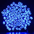 Vmanoo Solar Christmas Lights 72ft 22m 200 LED 8 Modes Solar Fairy String Lights for Outdoor, Gardens, Homes, Wedding, Christmas Party,Waterproof (Blue)