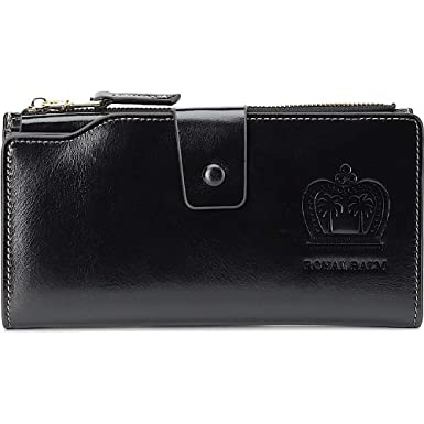 a09a8888a3c Ladies Large Clutch Wax Leather Wallet. For Classy Women at Clearance Sale  Prices (black