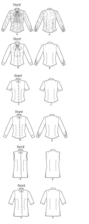 Vogue Patterns V8772 - Patrones de costura para blusas de mujer (talla A5: 36-44): Amazon.es: Hogar