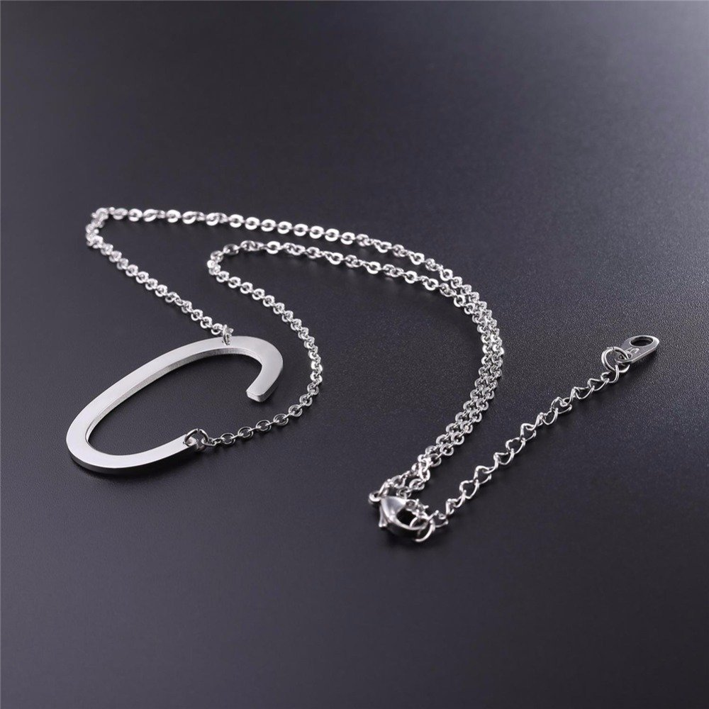 Family /& Friends Jewelry Gift /… Luvalti Initial Letter Jewelry Large Alphabet Earrings and Necklace