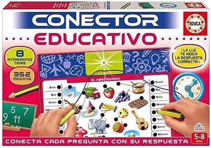 Educa- Conector 8 Temas de la Escuela Juego Educativo para niños, a Partir de 5 años (17203): Amazon.es: Juguetes y juegos