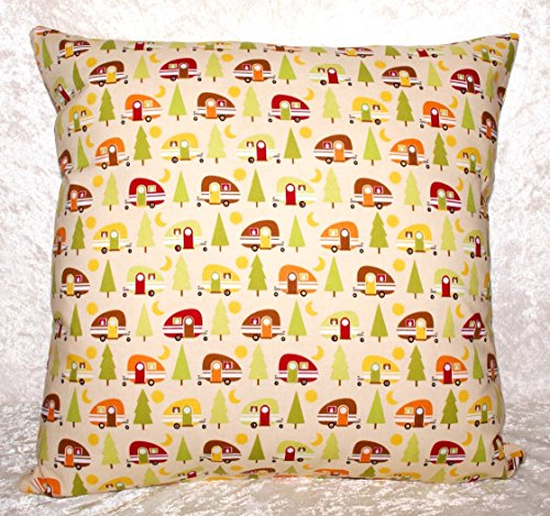 Throw Pillow Cover - Trailers On Peach- Fits 14