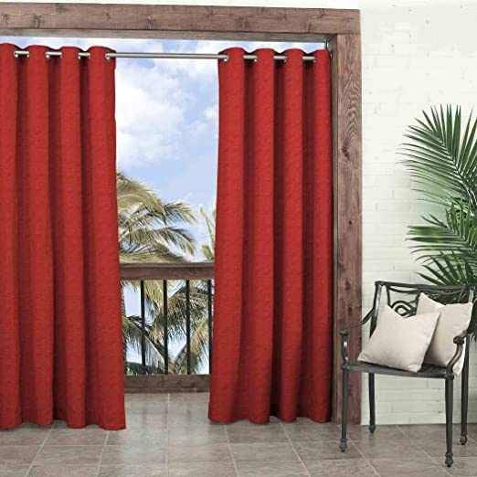 1 pieza 95 (Chilli color Gazebo cortina solo Panel, rojo color ...