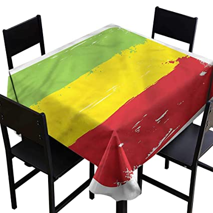 Amazon com: SKDSArts Square Tablecloth Cotton Ethiopia,Flag of an