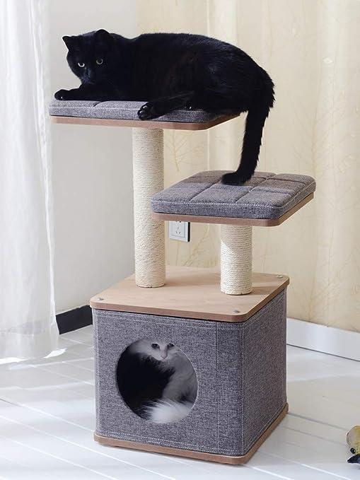 Cxjff ¡Lavable!Gato Que Sube Arena for Gatos árbol de Gato una imitación Textura de Madera Columna de rasguño de sisal exportación casera Estados Unidos: Amazon.es: Productos para mascotas