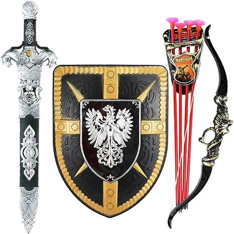 Lvbeis Conjunto de Armadura de Caballero Medieval para niños ...