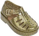 Mini Melissa Girls' Mini Aranha 79 16 Flat Sandal, Gold Glitter, 10 Regular US Toddler