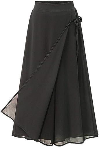 BoBoLily Mujer Pantalones Baggy Talla Grande Elegantes Aireado ...