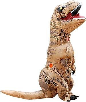 BOFEISI T-Rex Traje Adulto Dinosaurio Inflable Halloween Cosplay ...
