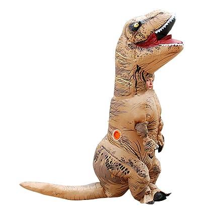BOFEISI T-Rex Traje Adulto Dinosaurio Inflable Halloween ...