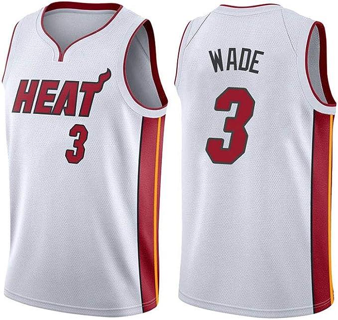 Shorts Mesh-Basketball-Swingman-Trikot OOFAY Herren-Basketballtrikot /Ärmelloses Sportwestenoberteil Schnell Trocknendes Miami Heat 3# Wade Atmungsaktives