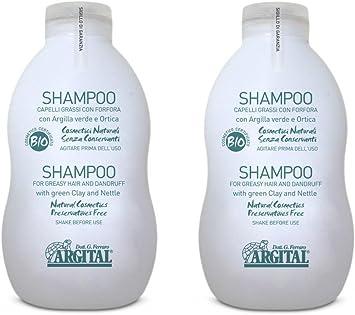 Argital - Lote de 2 botes de champú para cabello graso o con caspa ...
