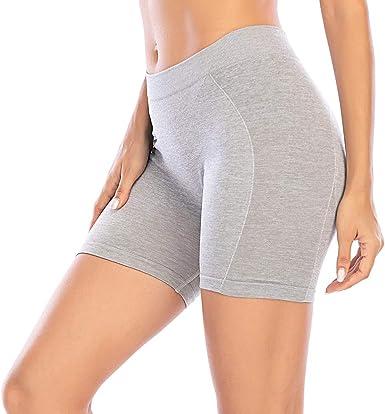 Pantalones Cortos Mujer Bragas Leggings Cortos de Algodón Shorts Sólido Verano sin Costuras Pantalones Deportivas para Yoga Fitness Ejercicio Running: Amazon.es: Ropa y accesorios