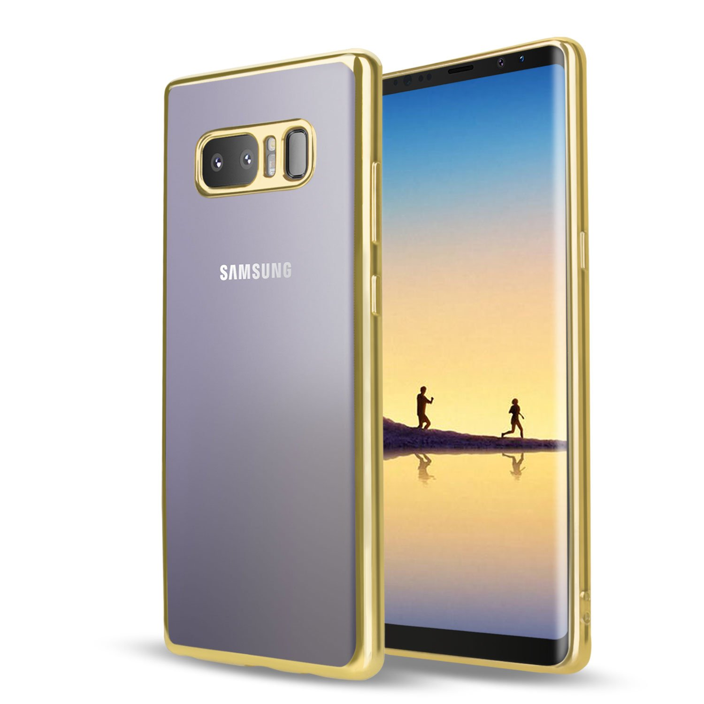 Samsung Galaxy Note 8 Hü lle, Samione Kratzfeste Plating TPU Case Galaxy Note 8 Bumper Cover Schutzhü lle Silikon Hü lle Crystal Case Durchsichtig Handyhü lle fü r Samsung Galaxy Note8(Schwarz)