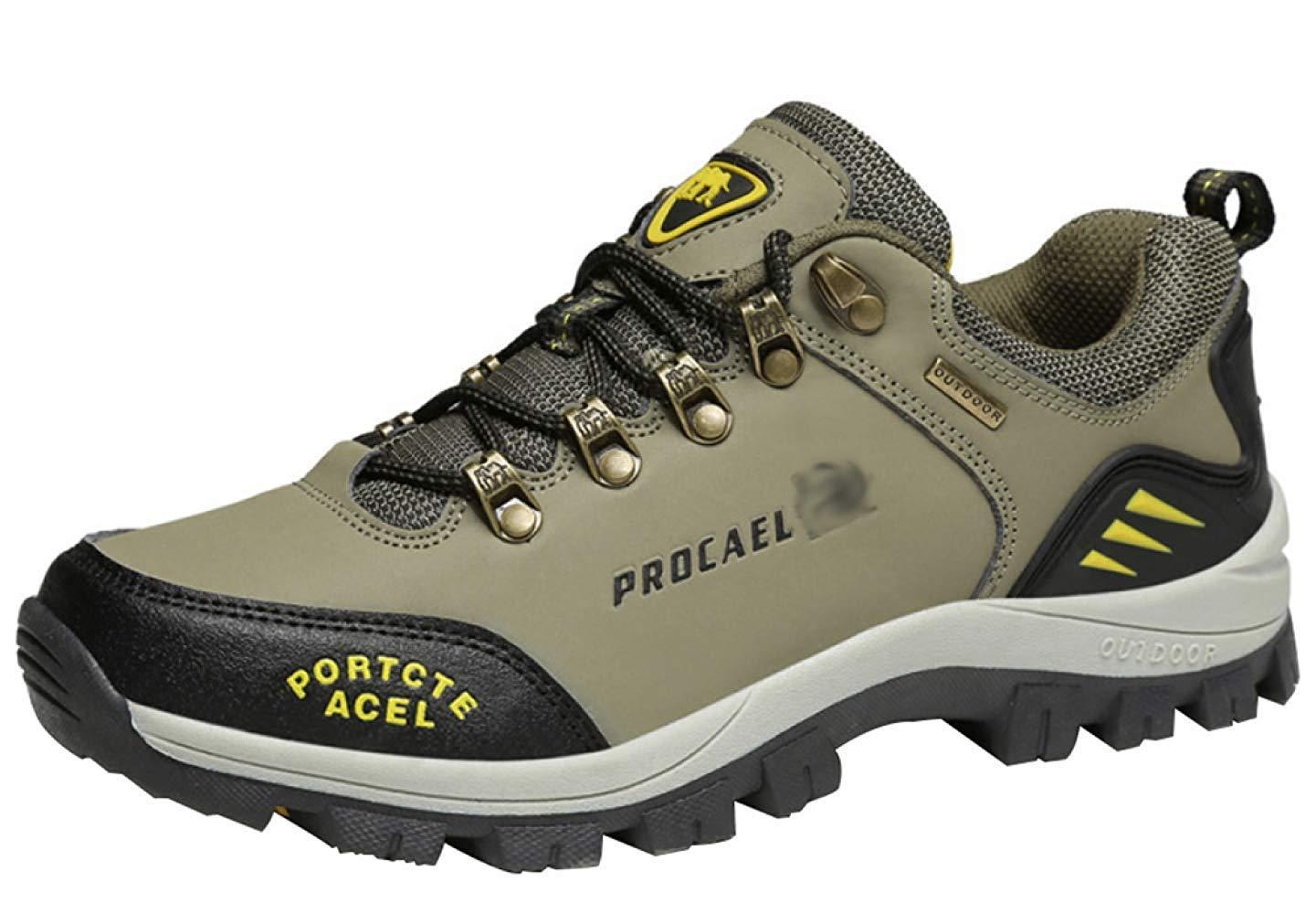 HhGold Männer Wanderschuhe Stiefel Leder Wanderschuhe Turnschuhe Für Outdoor Trekking Training Beiläufige Arbeit (Farbe : 13, Größe : 39EU)