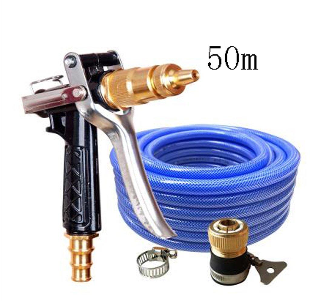 SHI XIANG SHOP Hochdruck -Autowäsche Kupfer Wassergewehr-Schwarz-Multi-Länge Optional A+ ( größe : 50 meters )