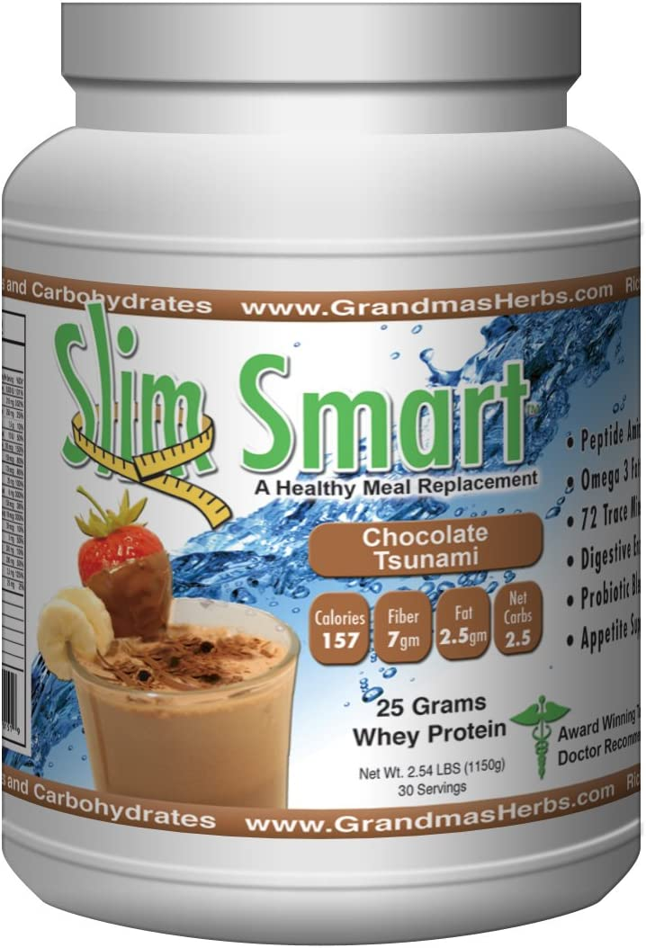 Slim Smart – Chocolate Tsunami, 25 Grams of Organic Clean Protein Per Serving 30 Servings