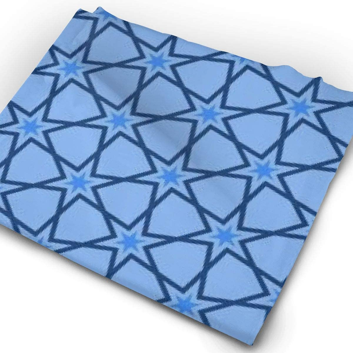 Blue Sharp Star Pattern Unisex Fashion Quick-Drying Microfiber Headdress Outdoor Magic Scarf Neck Neck Scarf Hooded Scarf Super Soft Handle