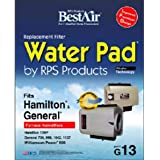 """BestAir G13 Humidifier Replacement Metal/Clay Waterpad Filter, For General, Hamilton & Williamson Power Models, 10"""" x 12.4"""" x"""
